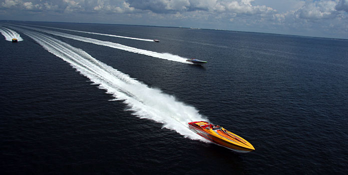 After its annual Miami Boat Show Poker Run, the Florida Powerboat Club will return to Fort Myers this year. Courtesy Florida Powerboat Club